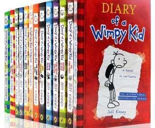 (Ready stok)Diary Of A Wimpy Kid -13books