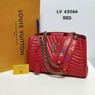 Louis Vuitton New Wave Chain Tote Bag Red