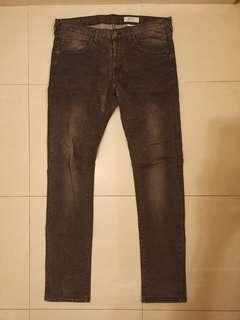H&M 男裝窄腳牛仔褲 slim cut jeans