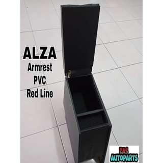 PERODUA ALZA Armrest PVC Red Line