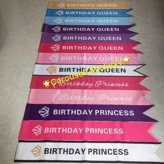 Birthday Sash / Beauty Contest Sash / Best Dressed Sash