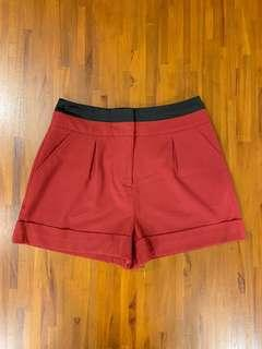 Forever21 Red High Waisted Shorts
