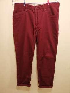 H&M 男裝斜布長褲 men's twill long pants size 34
