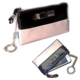📣Ready Stock📣Victoria's secret ribbon black pink pouch
