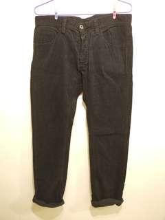 H&M 男裝燈芯絨長褲 corduroy long pants size 34
