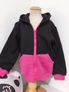 🚚 [現貨出清] 11碼 長袖外套 連帽外套 長袖 連帽 外套 背心 保暖 帽子 童裝 粉紅色 黑色 米奇 米妮 米妮帽子