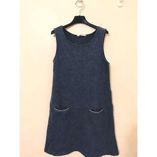 🚚 NET 毛料洋裝 口袋是鏈條設計 SM都可 保暖顯瘦又好看 大推薦