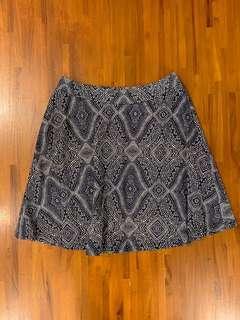 H&M Blue Patterned Skirt