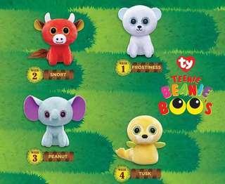 Happy Meals toys TY Teenie Beanie Boo's