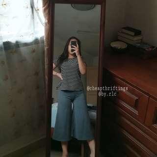 grey midi culottes/palazzo pants