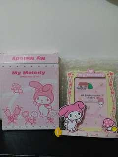 1976, 2004 Sanrio My melody 粉紅色 木製 4R  4x6吋相架