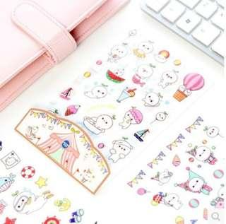 (Set of 6) Baby Beansprout Scrapbook / Planner Stickers #294