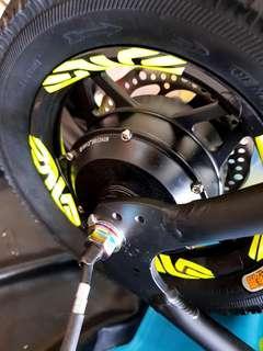 **In-Stock = Titanium M12*1.25mm Rainbow Nut For Motor Shaft (1pc Titanium 12g Vs Steel 21g) Fiido AM Tempo DYU Venom SW4 SW3 OEM   *^Price At 1Piece