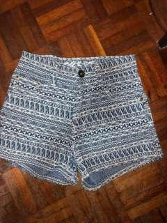 Aztec shorts high waist