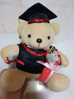 BN Graduation Bear with FLOWERS and scroll