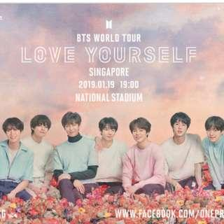 (SOUND CHECK TIX) 2x YELLOW1 BTS LOVE YOURSELF CONCERT TICKETS