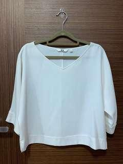Uniqlo White Sleeved Top