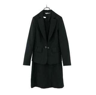 🚚 【Carnival 嘉裕】黑色 羊毛料套裝(洋裝+外套) 8號