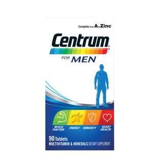 Centrum For Men Multivitamin & Minerals Dietary Supplement 90 Tablets