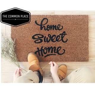 INSTOCK Home Sweet Home Scandinavian Coir Outdoor Mat Rug