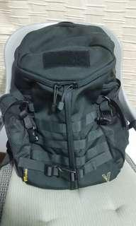 Military styled black backpack