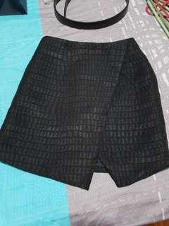 Love bonito asymmetrical black skirt