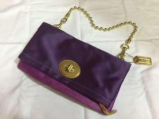 Coach satin clutch