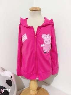 🚚 [現貨出清] 7碼 長袖外套 連帽外套 長袖 連帽 外套 背心 保暖 帽子 童裝 粉紅色 粉紅豬 喬治