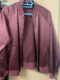 Uniqlo satin bomber jacket
