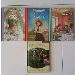 Assortment of books for girls