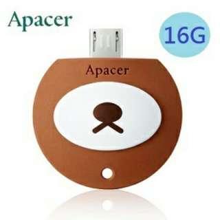 Apacer AH171 16GB OTG隨身碟(蜂蜜熊)