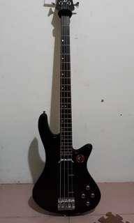 Sale Bass Schecter + strap + stand for android and go pro