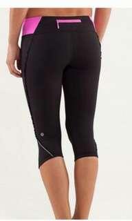 Lululemon Ruffle Crop Pants, Size 2