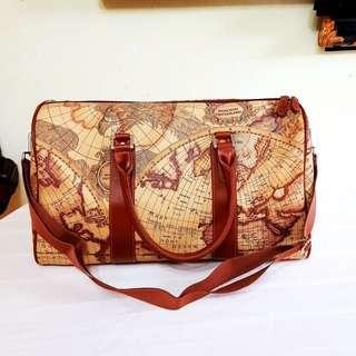 Vintage Moncross Switzerland Travel Bag with Antique Map motif. Brand New, Unused, Good Condition. Strong Synthetic Leather. $28 offer, WhatsApp 96337309.
