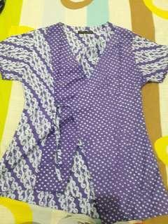 Atasan batik kimono unik