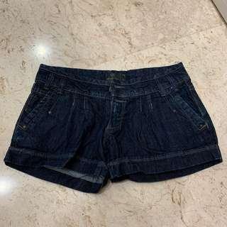 Pull and Bear Dark Blue Shorts