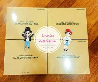Wanna One 2019 Season Greeting with Behind Book