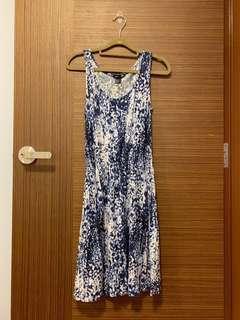 H&M Blue Tie Dye Dress