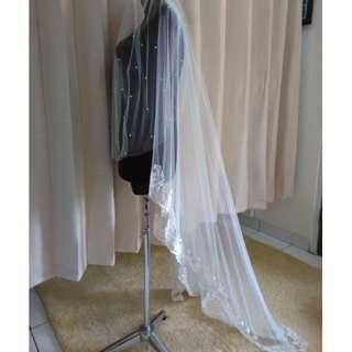 Anna veil / slayer / kerudung pengantin