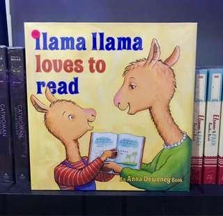 Children's Book: Ilama Ilama loves to read