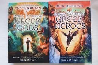 (Set) Percy Jackson's Greek Myths [Greek Gods & Greek Heroes] by Rick Riordan