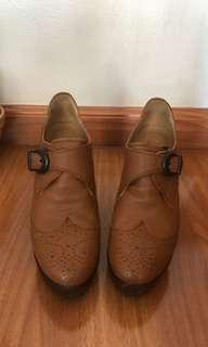 Barney's New York Authentic Brown Leather Ankle Boots