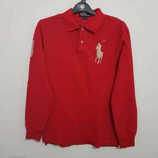 Polo Ralph Lauren size M Long Sleeve Red