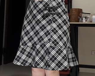 二手格子裙