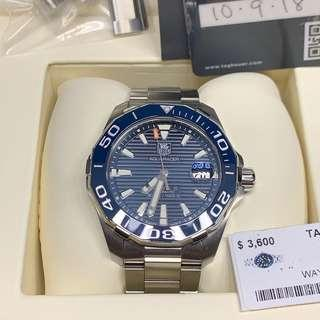 MINT Tag Heuer Aquaracer Blue Ceramic and Dial