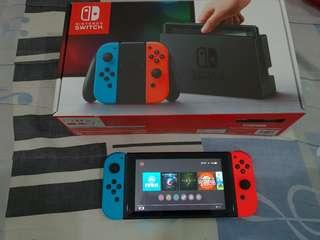 Nintendo Switch Neon Jailbreak Modded Set with 64gb full of games