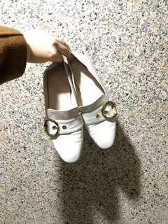 🚚 兩穿扣環真皮樂福鞋