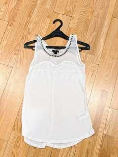H&M embellished tank top S #onlinesale