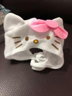 Hello kitty cat hat from gachapon machine japan