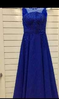 Elegant blue dress gown